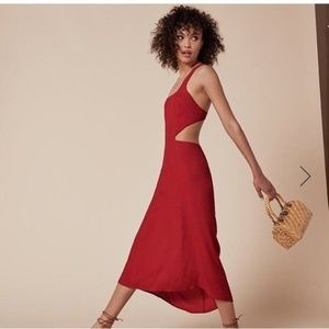 Reformation Red Dress Cutouts
